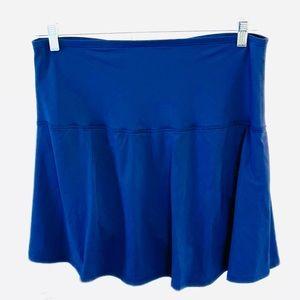 NWT LANDS END Womens 16W Blue Mini Swim Skirt